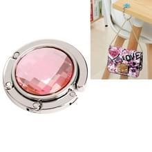 Draagbaar metalen opvouwbare zak tas haak handtas hanger shell tas vouwen tabel haak houder (roze)