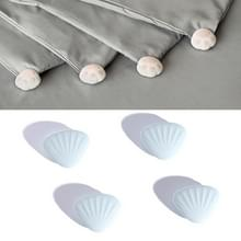 4 PCS / Set Gewatteerde antislip gesp op Four Corners Safe Needleless Quilt Holder (Shell)