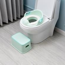 3 PC'S kinderen kunststof multifunctionele draagbare badkamer hand wassen anti-slip voetbank toilet stoel kruk (groen)