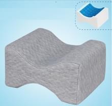 Orthopedische Memory Foam knie wig kussen voor slapen ischias terug heupgewricht Pain Relief Contour dij been Pad Support kussen de omkeerbare gel + grijs raster