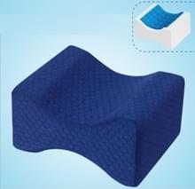 Orthopedische Memory Foam knie wig kussen voor slapen ischias terug heupgewricht Pain Relief Contour dij been Pad Support kussen de omkeerbare gel + marineblauw raster