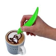 Nieuwe elektrische Latte Art pen voor koffie cake pen voor Spice cake versieren pen koffie carving pen bakken gebak tools (groen)