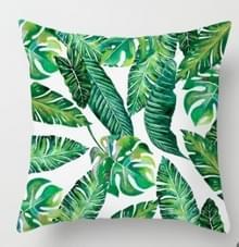 Tropische planten kussen zaak polyester decoratieve kussenslopen groene bladeren gooien kussen cover Square 45CM x45CM (14)