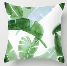 Tropische planten kussen zaak polyester decoratieve kussenslopen groene bladeren gooien kussen cover Square 45CM x45CM (15)