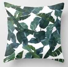 Tropische planten kussen zaak polyester decoratieve kussenslopen groene bladeren gooien kussen cover Square 45CM x45CM (16)