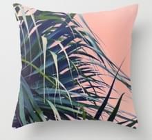 Tropische planten kussen zaak polyester decoratieve kussenslopen groene bladeren gooien kussen cover Square 45CM x45CM (18)