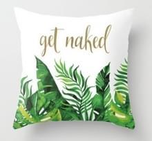 Tropische planten kussen zaak polyester decoratieve kussenslopen groene bladeren gooien kussen cover Square 45CM x45CM (20)