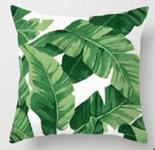 Tropische planten kussen zaak polyester decoratieve kussenslopen groene bladeren gooien kussen cover Square 45CM x45CM (21)