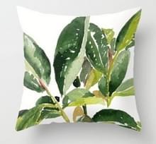 Tropische planten kussen zaak polyester decoratieve kussenslopen groene bladeren gooien kussen cover Square 45CM x45CM (22)