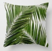 Tropische planten kussen zaak polyester decoratieve kussenslopen groene bladeren gooien kussen cover Square 45CM x45CM (24)