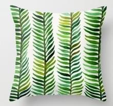 Tropische planten kussen zaak polyester decoratieve kussenslopen groene bladeren gooien kussen cover Square 45CM x45CM (26)