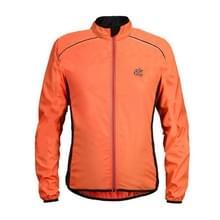 Reflecterende high-visibility lichtgewicht sport jas packable winddicht lange mouw sportkleding  maat: XXL (Orange)