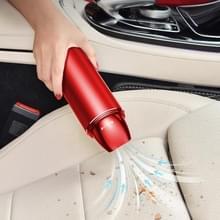 Auto stofzuiger draadloos opladen Home Car Dual-purpose Krachtige kleine hand-held stofzuiger met veiligheid hamer (Rood)