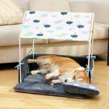 CWH011 wasbaar huis vorm hond bed tent hond kennel huisdier verwisselbare gezellige huis (grijs)
