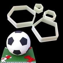 2 PC'S taart schimmel fondant schimmel voetbal vorm cake versieren tools