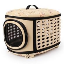 EVA Portable Folding Pet Tote Pet Carrier Bag(Beige)