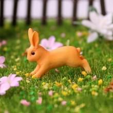 10 PCS Cartoon Konijn Simulatie Micro Landschap Decoratie Sappige Bloempot Animal Jewelry Shooting Rekwisieten  Style:Running Rabbit (Geel)