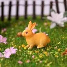 10 PCS Cartoon Konijn Simulatie Micro Landschap Decoratie Sappige Bloempot Animal Jewelry Shooting Rekwisieten  Stijl: Hurken Konijn (Geel)