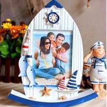 5 inch Vintage houten mediterrane stijl roer foto frame art home decoratie (kleine vis)
