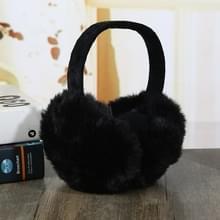 6PCSFaux Konijnenbont vrouwen comfortabele warme oor cover oor verstelbaar (zwart)