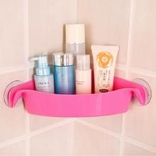 2 PC'S keuken badkamer sterke zuignap multifunctionele rekken toilet hoek opslag rek (roze)