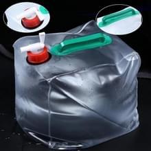 2 stuks 20L outdoor opvouwbare PVC drinken tas kampeeruitrusting