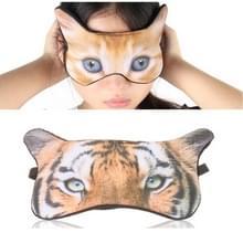 3D oog masker arcering slapende cartoon dier gedrukte oog masker (tijger)