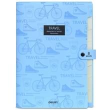 A4 student Multi-Layer test papier folder pakket opbergtas (hemelsblauw)
