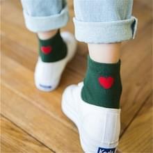 5 paren geborduurd hart vorm katoen Lady katoen sokken stack sokken (groen)