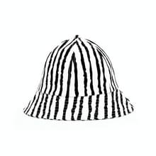 Vrouwen Outdoor Leisure Sunhat Fisherman Hat Bucket Cap  Grootte: 57cm (Black White Stripes)