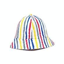 Vrouwen Outdoor Leisure Sunhat Fisherman Hat Bucket Cap  Grootte: 57cm (Red Blue Kleurrijke Strepen)