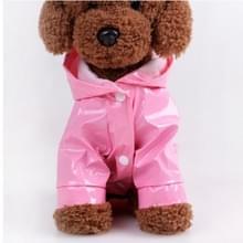 Huisdier regenjas kat kleren PU reflecterende hond Hooded regenjas  maat: S (roze)