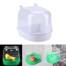 Papegaai vogel badkuip huisdier permanent bin Wash ruimte Parrot Badbenodigdheden (wit)