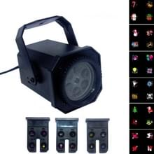 8W LED Stage Lighting Christmas Snowflake Pattern Projection Lamp Effect Laser Light  Plug Specificaties:EU Plug(6 Holes)