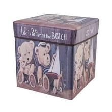 Multifunctionele opslag kruk kan zitten volwassen klapstoel home change shoe bank kinderen opbergbox (Cartoon Bear)