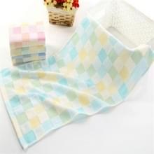 Kinderen wassen gezicht handdoek absorberend zacht katoen handdoekje (groen)