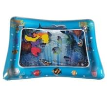 3 STKS baby opblaasbare aquarium water spelen kussen Prostrate pad Toy mat blauw 60 * 50cm