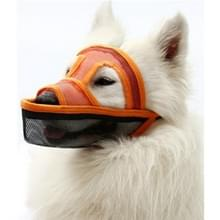 Kleine en middelgrote long-mouth dog mouth cover teddyhond masker  grootte: XXS (Oranje)