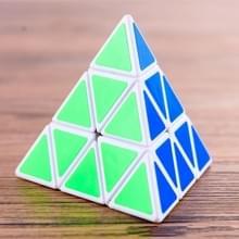 5 stuks derde-orde gevormde gedraaide kubus fluorescerende kubus kinderen educatief speelgoed (wit)