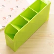 2 stks multifunctionele 4 grid Desktop pennenhouder Office school opslag geval plastic vak Desk pen potlood organisator (groen)
