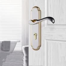 COBBE Indoor Slaapkamer Deurslot Badkamer Toilet Silent Deurhandvat Huishouden Universal Lock  Kleur: Geborsteld Goud