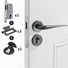 Magnetisch slot Mute Split Lock Solid Space Aluminium Binnendeurslot  Style:72 Magnetic Package(Grijs)