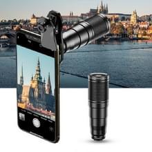 APEXEL APL-22X105 4 in 1 Metal 22X Telephoto + Fisheye + Groothoek + Macro Starlight Polarisatie Universele Externe Mobiele Telefoon Lens Set