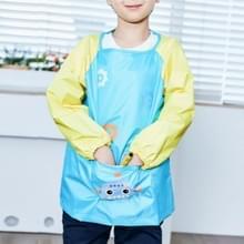 Waterdichte cartoon vuil-resistente licht ademend tekening kleren schort voor kinderen  grootte: L (meer blauw)