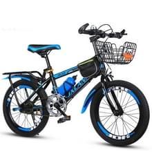 22 Inch Kinderfietsen 7-15 jaar kinderen zonder hulpwielen  stijl: single speed luxe (zwart blauw)