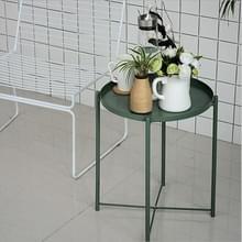 Nordic ijzeren ronde tafel koffietafel metalen kleine ronde tafel (groen)