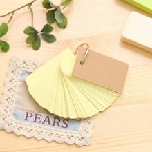 Kladblok reciting notitieboek schrijven draagbare school aanbod Loose-Leaf mini briefpapier woordenboek (beige)