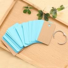 Kladblok reciting notitieboek schrijven draagbare school aanbod losse blad mini briefpapier woordenboek (blauw)