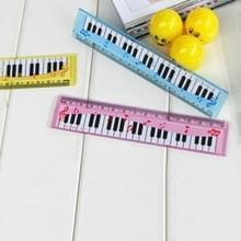 5 PC'S cartoon piano Opmerking liniaal bladwijzers student gift  willekeurige kleur  lengte: 15cm