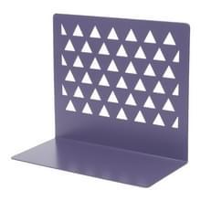 Metalen driehoekige holle desktop organisator boekensteunen ondersteuning stand houder plank Bookrack thuiskantoor benodigdheden (paars)